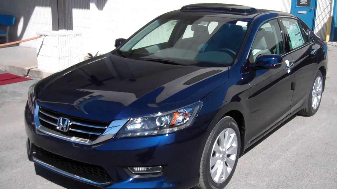 2013 honda accord ex l v6 blue tameron honda chris for Honda accord exl 2013