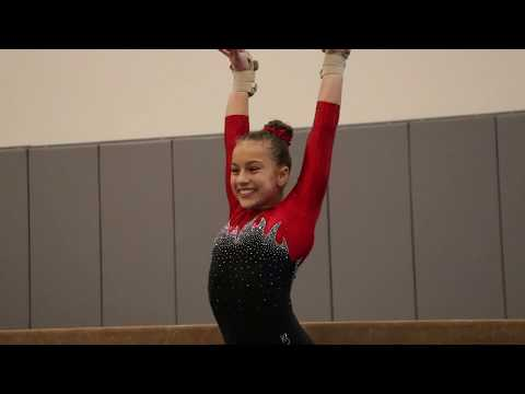 Kaylee Ossman 1st Place Beam Pacific Classic 2020 Wildfire Gymnast Level 7