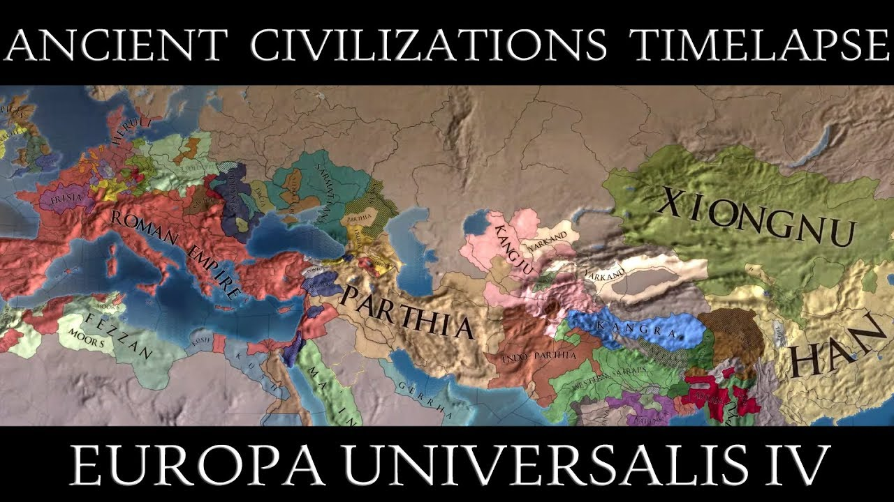 EU4: Ancient Civilizations Always War Mod Timelapse
