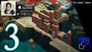 Lara Croft GO Android iOS Walkthrough - Part 3 - The Maze Of Stones