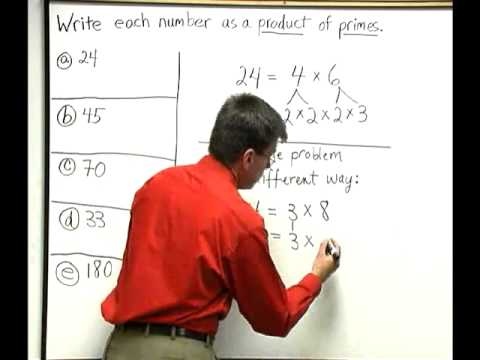 Essential Mathematics, Chapter 2: Writing Numbers as a Product of Primes #1