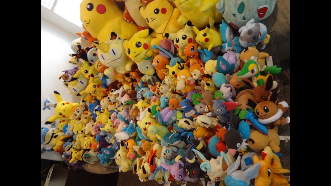 Pokemon PLUSH Collection Over 300 FOR SALE Giant Huge World's Largest Lot