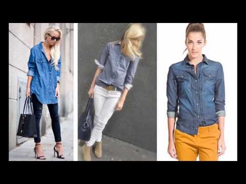 b42dfa7138 45 LOOKS CON CAMISA VAQUERA - Marilyn s Closet - YouTube