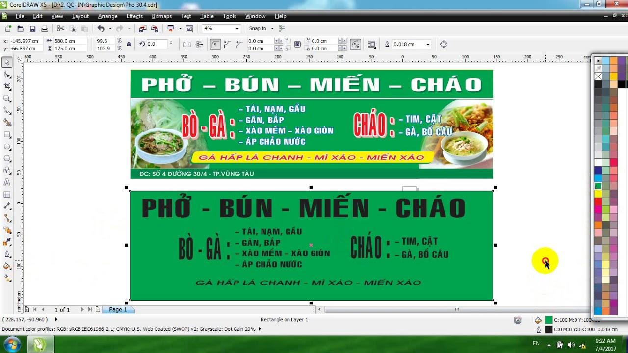 Thiết kế bảng hiệu quảng cáo Corel,  Photoshop thiết kế quảng cáo in ấn  kỹ thuật số