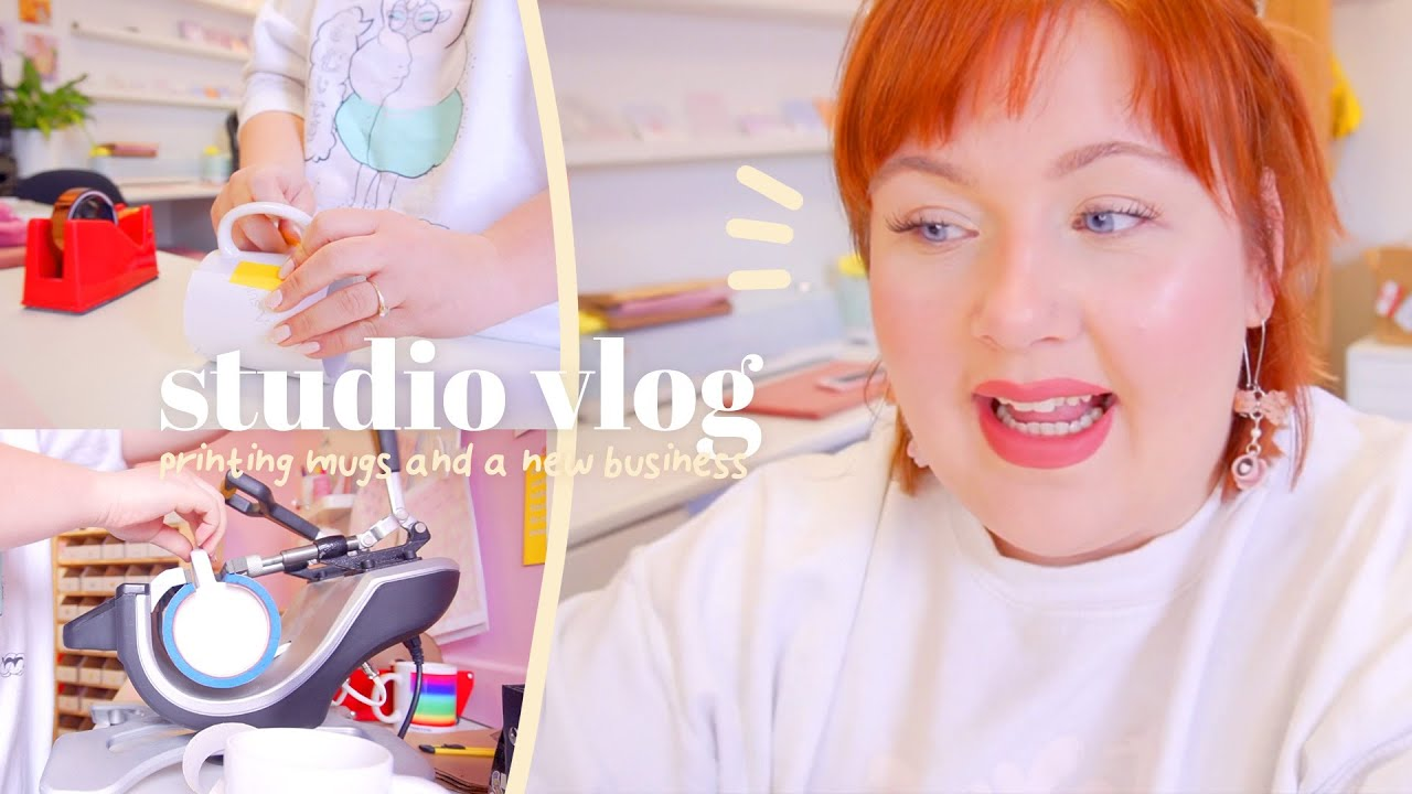 STUDIO VLOG | Printing Mugs & Re-opening a Second Etsy Store | Etsy Business Behind the Scenes