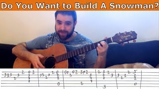 Fingerstyle Tutorial: Do You Want to Build A Snowman? - Guitar Lesson w/ TAB