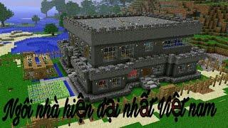 Minecraft pe #12 : Phát hiện sắt và cho mọi người xem nhà mới