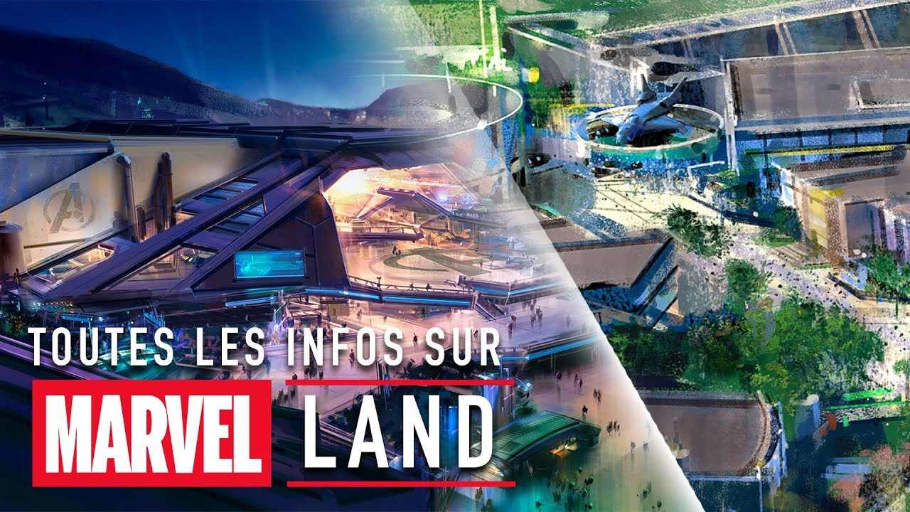 Apercu De Marvel Land A Disneyland Paris Youtube