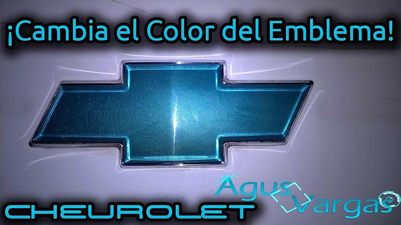 Cambiar color del emblema de Chevrolet (Sin pintar encima) DIY ...