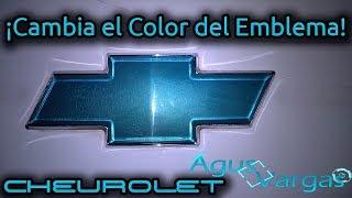 Cambiar color del emblema de Chevrolet (Sin pintar encima) DIY Change the color of Chevrolet Logo