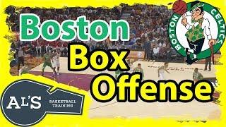 Box Cross Boston Celtics Basketball Play