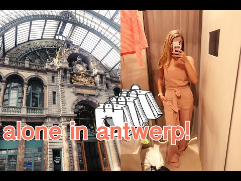 a full day of shopping in antwerp, belgium {vlog + HAUL!}| single girl's guide to antwerp