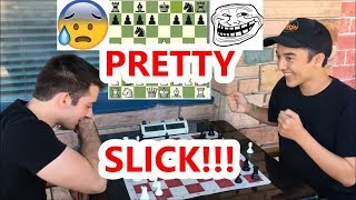 Did This New Kid Just Hustle The Butcher In 9 Moves??? (Dirty Chess Trick!)