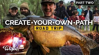 fishing for HUGE Carp in Europe Part Two  Create Your Own Path Road Trip  Wofte CARP FISHING