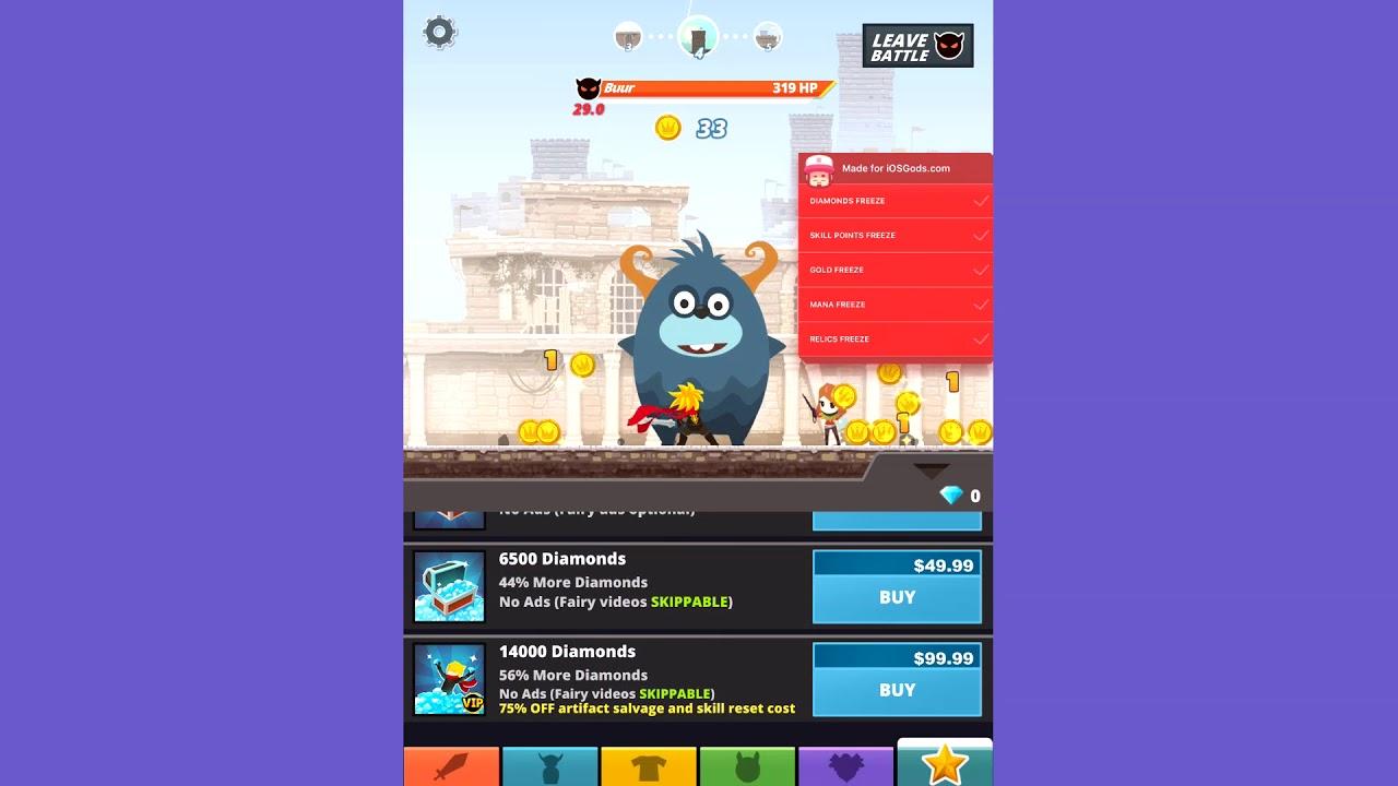[ iOSGods com ] Tap Titans 2 MEGA HACK for iOS - Mod Menu