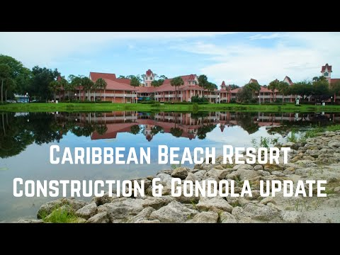Caribbean Beach Resort Construction and Gondola Update | August 2018