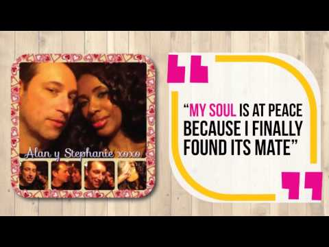 Online Dating - Interracial couple meets online