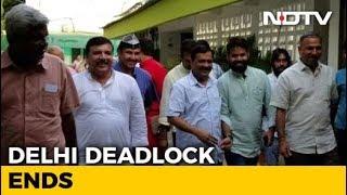 Arvind Kejriwal Leaves Lt Governor's House, Delhi Deadlock Ends