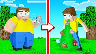 EATING EVERY BLOCK In MINECRAFT! (Bad)