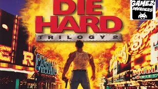 Die Hard Trilogy 2: Viva Las Vegas! Arcade Shooter! Stage 1! 3rd Person PS1 Game