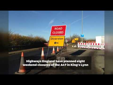Road closures of A47 in King's Lynn planned for major repair works