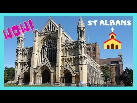 The historic Saint Albans Cathedral, St Albans, England