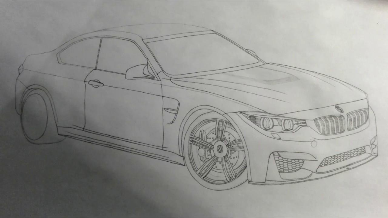 Bmw M4 F82 Car Drawing