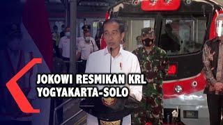 Jokowi Resmikan KRL Yogya-Solo, Dorong Penggunaan Kendaraan Listrik di Indonesia