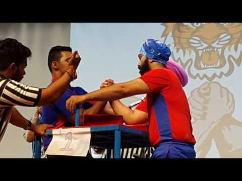 National Armwrestling India 2017 - 80 kg Senior Men Category