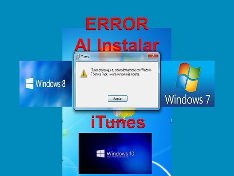 Solucion Error al Instalar iTunes / Windows 7 / Windows 8 / Windows 10..