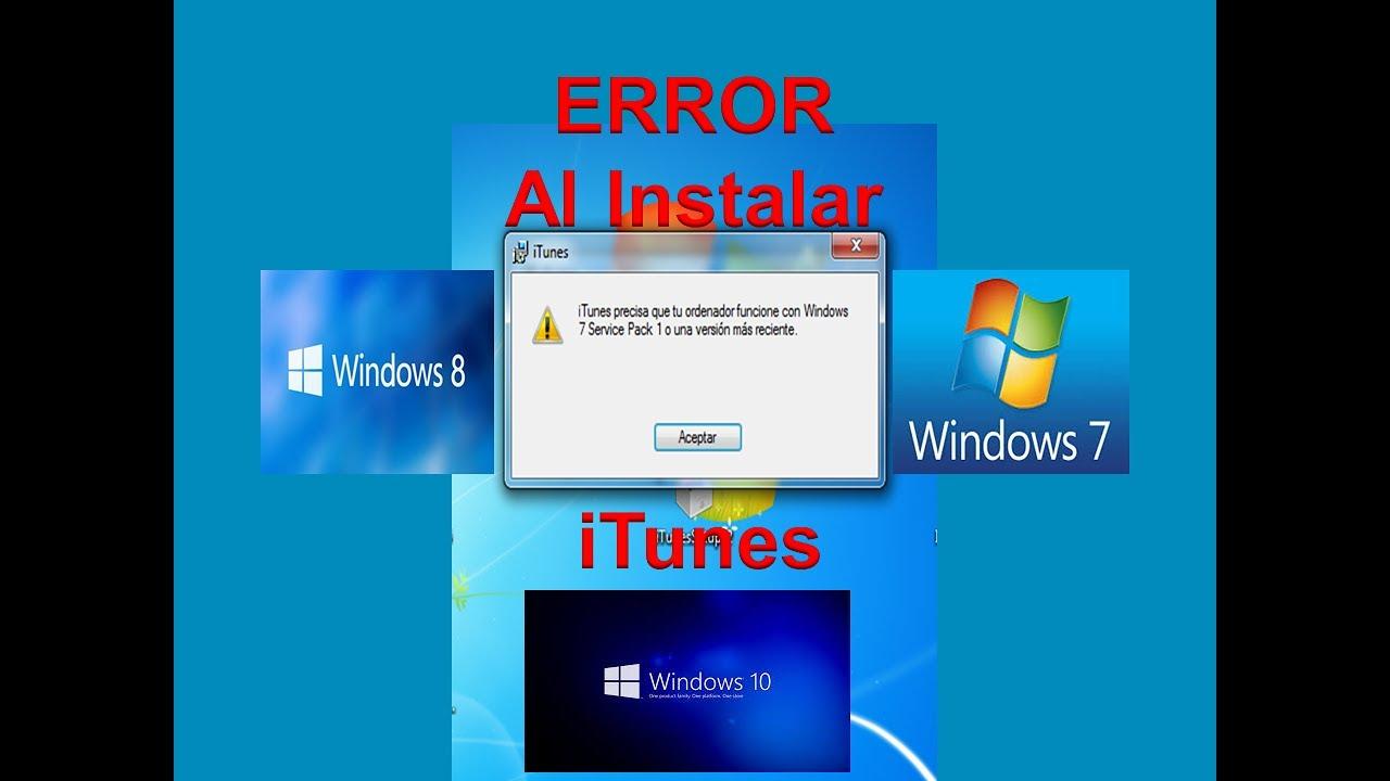 Solucion Error al Instalar iTunes / Windows 7 / Windows 8 / Windows 10