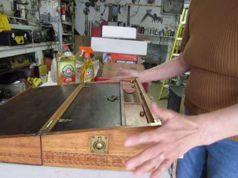 Antique Lap Desk Cleaning & Repair by Carol Blackburn Video #3