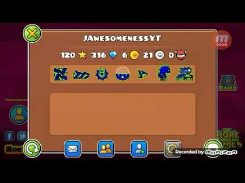 My geometry dash registered account