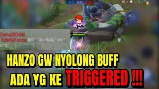 HANZO GW NYOLONG BUFF ADA YG KE TRIGGERED !!! Hanzo Mobile Legends Indonesia