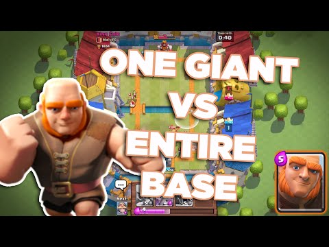 ONE GIANT VS ENTIRE LEVEL 3 NOOB ACCOUNT!!| Clash Royale