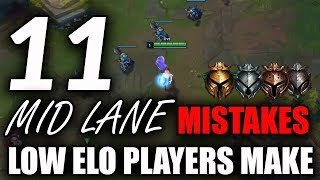 11 Mid Lane Mistakes Most Low Elo Players Make | Mid Lane Tips For Season 9