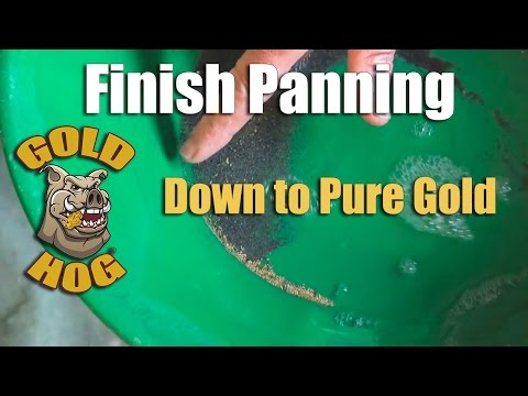 Finish Panning - Cleaning Gold Concentrates to Pure Gold