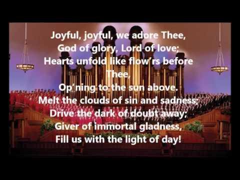 HOMOPHONIC TEXTURE: Joyful, Joyful, We Adore Thee by Mormon Tabernacle Choir