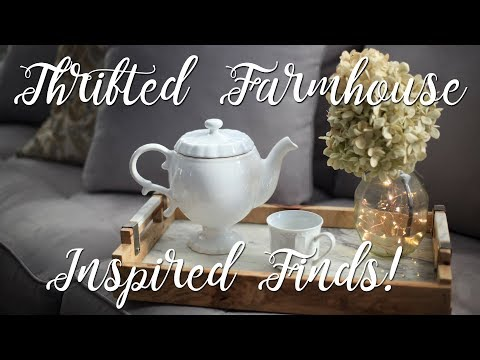 Goodwill Farm House Inspired Thrifted Home Decor Finds Mini Haul