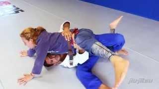 Lucas Leite, Knee Shield Sweep To Back Take: Jiu-Jitsu Magazine, Issue #28.