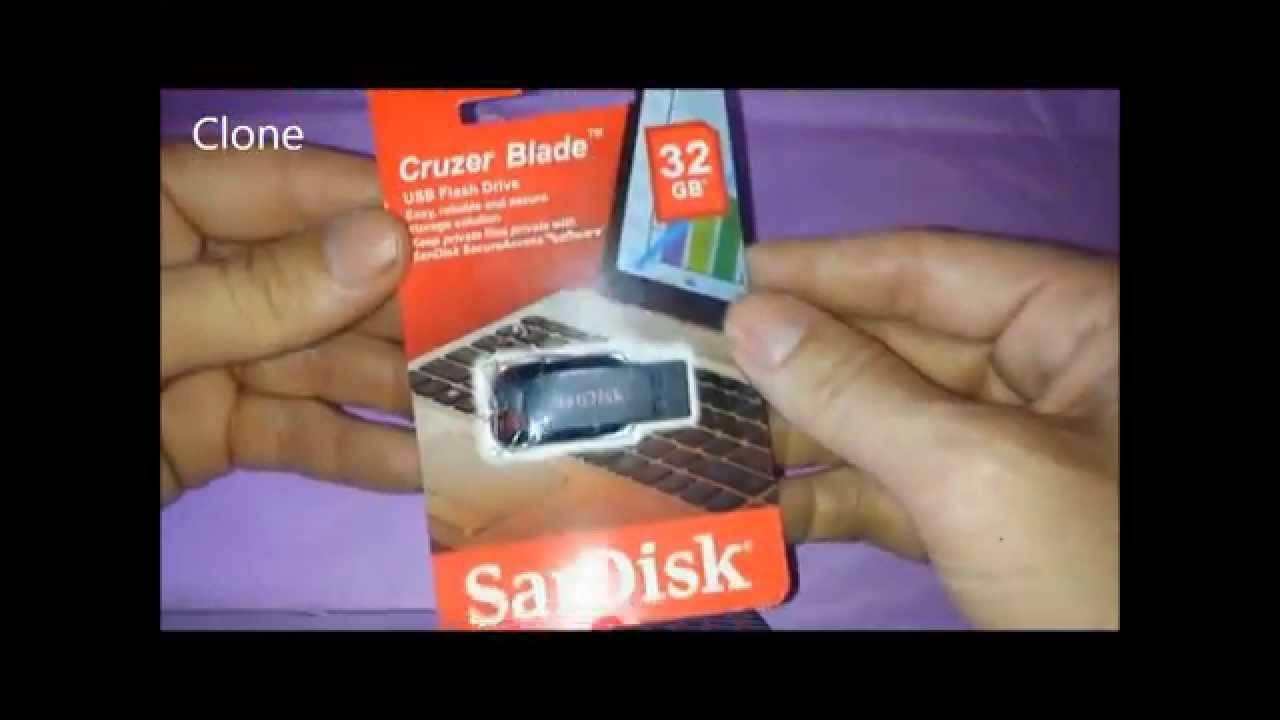 Sandisk Cruzer Blade 32gb Flash Drive Original Clone Fake Youtube Usb Cz50 16gb
