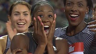 Kendra Harrison Adorably Smashes World Record