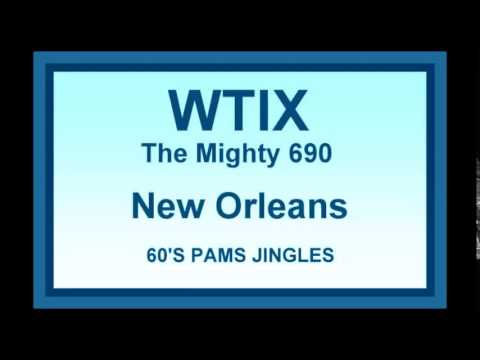 WTIX AM Radio Jingles, New Orleans,1960s