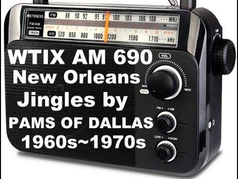 WTIX AM Radio Jingles, New Orleans,1960s