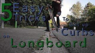 5 TRICKS FACILES pour passer les BORDURES en longboard skate ou cruiser - Échappées Urbaines