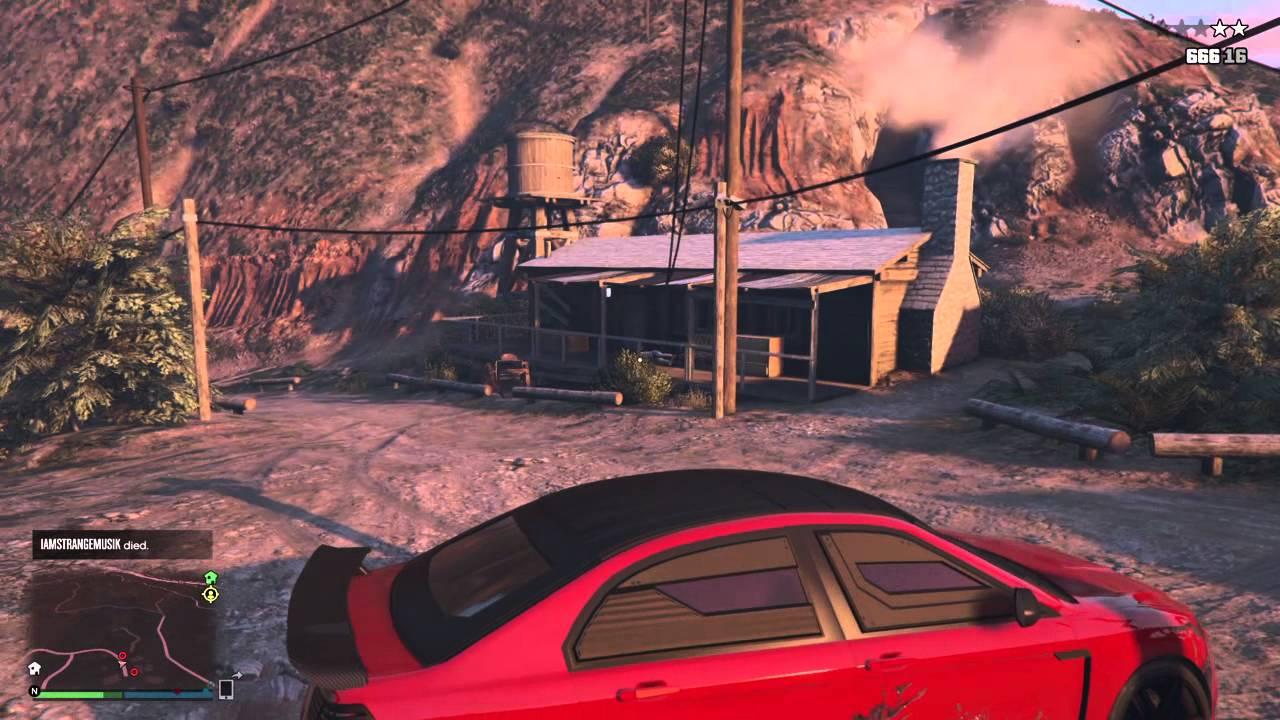 Grand Theft Auto V naked camp?! - YouTube