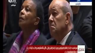 بالفيديو.. اولاند: الإرهاب ضرب فرنسا لانها بلد الحرية وحقوق الإنسان