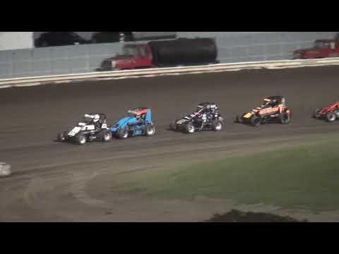 IMRA Illinois Midget Racing Association feature Pepsi Lee County Speedway 9/14/19