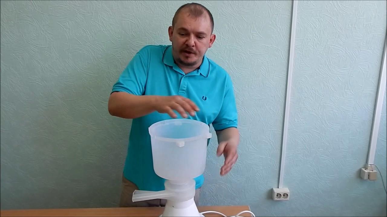 Сепаратор молока нептун быстро отделит сливки от молока, очистив молоко от возможных загрязнений. Можно отрегулировать соотношение.