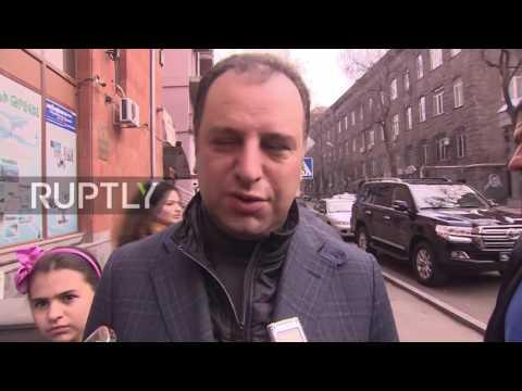 Armenia: Pres. Sargsyan and opposition Gagik Tsarukyan vote in elections